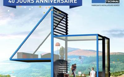 40 ANS D'APPARTENANCE A NOTRE RÉSEAU DE FABRICANT ALUMINIER TECHNAL